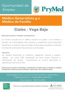 Medico Generalista o De Familia