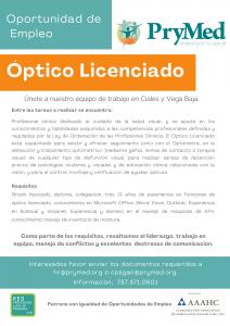 Optico licenciado